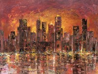 Sunset in New York Fine-Art Print