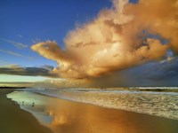 Sunset On The Ocean, New South Wales, Australia Fine-Art Print