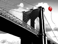 Balloon over Brooklyn Bridge Fine-Art Print