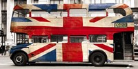 Union Jack Double-Decker Bus, London Fine-Art Print