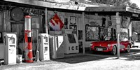 Vintage Gas Station on Route 66 Fine-Art Print