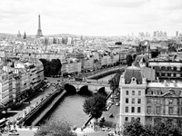 View of Paris and Seine River Fine-Art Print