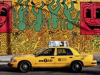 Taxi and Mural painting, NYC Fine-Art Print