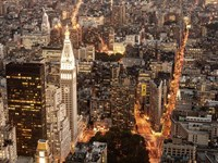 Aerial View of Manhattan with Flatiron Building, NYC Fine-Art Print