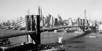 Brooklyn Bridge with Manhattan skyline, 1930s (detail) Fine-Art Print
