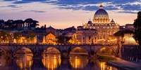 Night View at St. Peter's cathedral, Rome Fine-Art Print