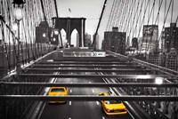 Taxi on Brooklyn Bridge, NYC Fine-Art Print