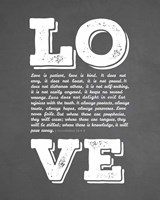 Corinthians 13:4-8 Love is Patient - Chalkboard Fine-Art Print