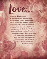 Corinthians 13:4-8 Love is Patient - Pink Floral Fine-Art Print