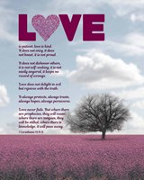Corinthians 13:4-8 Love is Patient - Pink Field Fine-Art Print