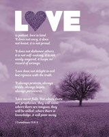 Corinthians 13:4-8 Love is Patient - Lavender Field Fine-Art Print