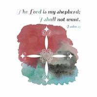 Psalm 23 The Lord is My Shepherd - Cross 2 Fine-Art Print