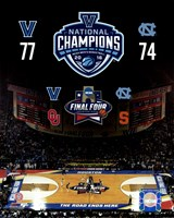 Villanova Wildcats 2016 NCAA Men's College Basketball National Champions Composite Fine-Art Print
