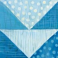 Modern Americana IX Blue Fine-Art Print