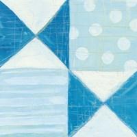 Modern Americana V Blue Fine-Art Print