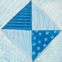 Modern Americana VI Blue Fine-Art Print