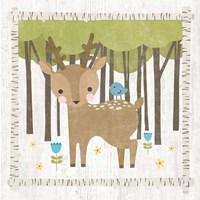 Woodland Hideaway Deer Fine-Art Print