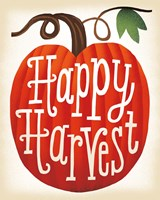 Harvest Time Happy Harvest Pumpkins Fine-Art Print