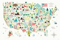 Illustrated USA Fine-Art Print