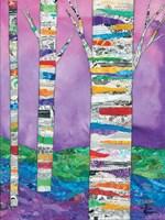 Multicolored Birch Tree I Fine-Art Print