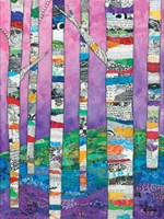 Multicolored Birch Tree II Fine-Art Print