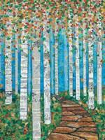 Falling Birch Leaves Fine-Art Print