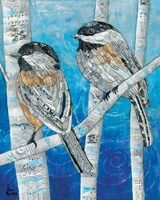 Winter Chickadees Fine-Art Print