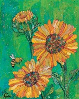 Sunflowers and Bee Fine-Art Print
