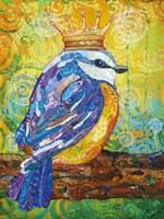 Baby Bird with Crown Fine-Art Print