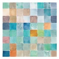 Color BLock Blue Story Fine-Art Print