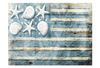 Water Blue American Flag Fine-Art Print