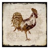 Vintage Rooster Square 1 Fine-Art Print