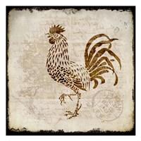 Vintage Rooster Square 2 Fine-Art Print