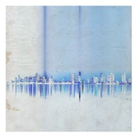 Miami in Blue Fine-Art Print