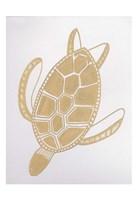 Golden Sea Turtle Fine-Art Print