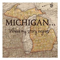 Story Michigan Fine-Art Print