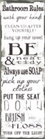 Bathroom Rules White Black Fine-Art Print