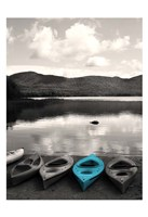 Kayaks Teal Fine-Art Print