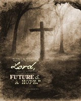 Jeremiah 29:11 For I know the Plans I have for You (Sepia Cross) Fine-Art Print