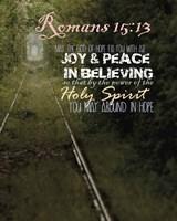 Romans 15:13 Abound in Hope (Rail Track) Fine-Art Print