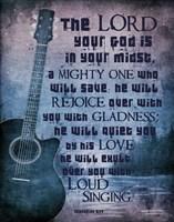 Zephaniah 3:17 The Lord Your God (Guitar) Fine-Art Print