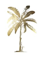 Gold Foil Tropical Palm II- Metallic Foil Fine-Art Print