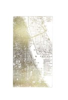 Gold Foil City Map Chicago- Metallic Foil Fine-Art Print