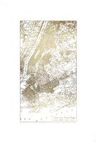 Gold Foil City Map New York- Metallic Foil Fine-Art Print