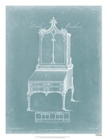 Chippendale Desk & Bookcase II Fine-Art Print