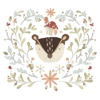 Whimsical Woodland Faces II Fine-Art Print