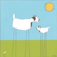 Stick-leg Goat I Fine-Art Print