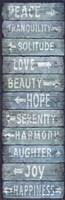 Vintage Signs - Directions Blu Fine-Art Print