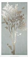 Sage Silhouette I - Metallic Foil Fine-Art Print