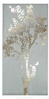 Sage Silhouette II - Metallic Foil Fine-Art Print